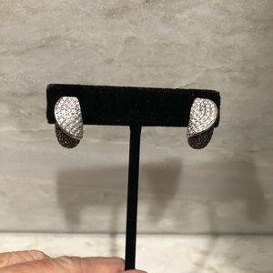 Diamond 14k white gold earrings